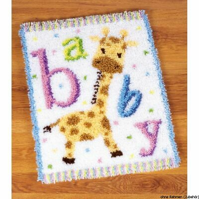 Vervaco Latch hook rug kit Baby giraffe II, DIY