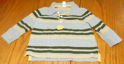 Boy's Size 12-18 Months Shirt Long Sleeves Stripes by Baby Gap