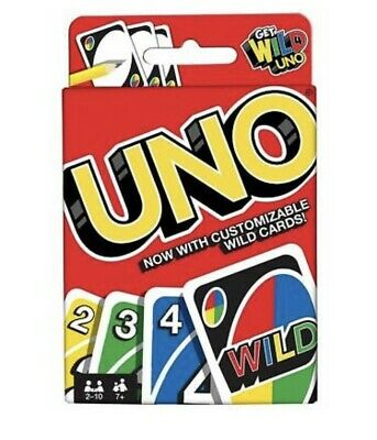 (2pk) Uno-Card-Game With Customizable Wild Cards Family Fun By Mattel