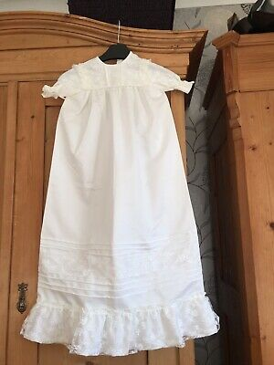 Vintage Christening Robe And Bonnet 38 Years Old! Truly Beautiful
