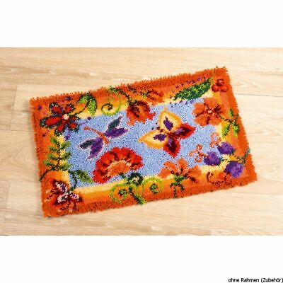 Vervaco Latch hook rug kit Decorative flowers, DIY