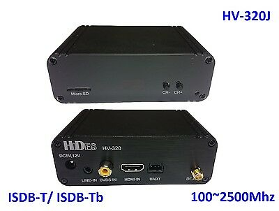HV-320J FPV Full HD Video Tx 100~2500Mhz, HDMI/ CVBS to ISDB-T/-Tb modulator