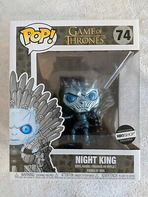 Metallic Night King Iron Throne HBO Shop Exclusive Game of Thrones Funko Pop GoT