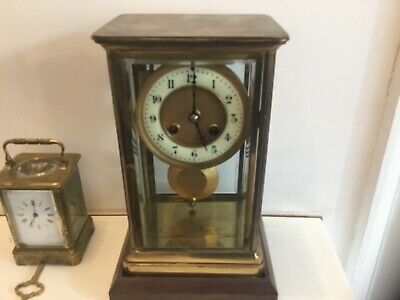 Large brass carriage clock , french ,mantle clock Paris , R and co antique