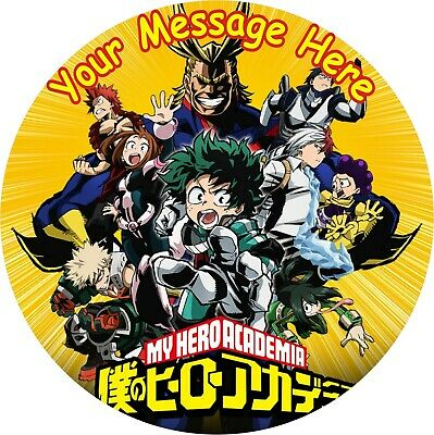 """My Hero Academia  Round 8"""" Cake Topper Icing Or Ricepaper"""