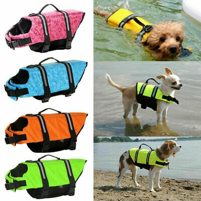 Pet Dog Life Jacket Summer Swimming Reflective Stripes Swimsuit Vest New