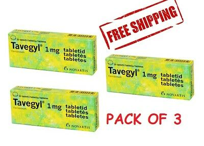 TAVEGYL CLEMASTINUM TABLET Skin Allergy Rashes Itching
