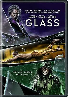 GLASS (New Sealed 2019 Dvd Release) Actors Bruce Willis /James Mcavoy Ships Free