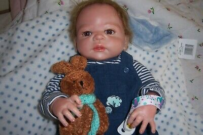 "Liam, is a 22"" Reborn Baby Boy Doll, Full Body, Anatomically Correct.Nearly New!"