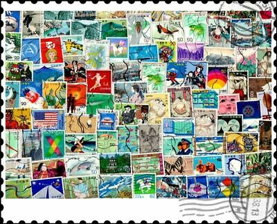 Japan Large & Commemoratives : 100 Different Stamps Collection