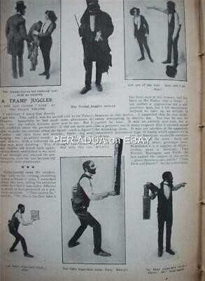 1901 W.C. FIELDS at 21 Comedian Juggler in London ~ magazine article xl