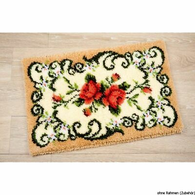 Vervaco Latch hook rug kit Rose carpet, DIY