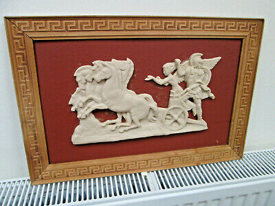 Greek Bas-Relief  Replica of a classical Greek scene of Alexander the great