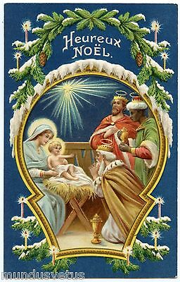 Heureux Christmas. and CHILD Jesus. Embossed. Embossed. Merry Christmas.
