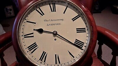 Fusee school clock. ..tho,..Armstrong. .Liverpool
