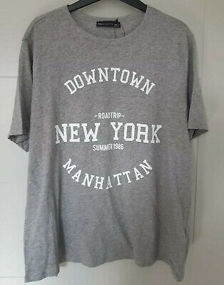 Marks & Spencer M&S Collection ladies straight grey mix t-shirt top, Large, BNWT
