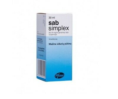 Sab Simplex Drops 30ml - For Bloating, Excess gases, Colic