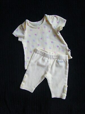 Baby clothes GIRL newborn 0-1m outfit yellow/pink roses SS top,trousersSEE SHOP!