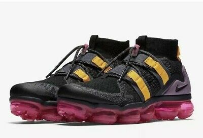 Nike Air Vapormax Flyknit Utility  AH6834-006 Mens Size 10.5 Black Purple Rare