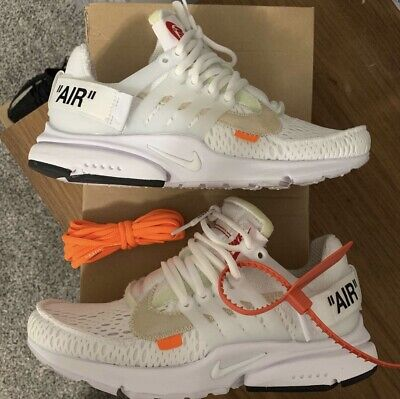 online store 77682 7c3c3 THE 10 OFF-WHITE Nike Air Presto Size 6 100% Authentic