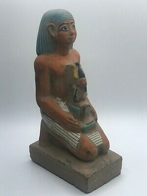 Rare ANCIENT EGYPTIAN STATUE ANTIQUES Horemheb Osiris Gods Sculpture 3150 BC,V2