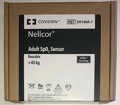 Covidien Nellcor DS100A-1 Adult SpO2 Sensor OEM original sealed box (Brand New)