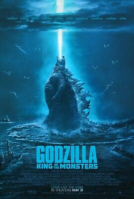 Godzilla KING OF THE MONSTERS Original 27x40 DS Theatrical Movie Poster 2019 B