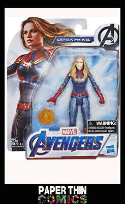 """Avengers Endgame 6"""" Movie Captain Marvel Official Action Figure New Collectable"""