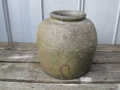 18th Century Asian Korean Stoneware Food Storage Pottery Jar A8933