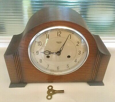 Smiths Enfield Striking Mantel Clock - Working With Key