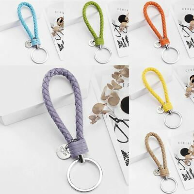 Keychain 33 Colors Leather Braided Woven Rope Pendant Car Key Women Men Holder