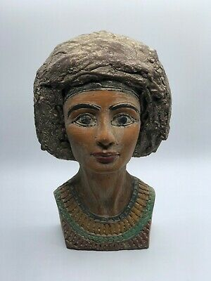 EGYPTIAN ANTIQUES ANCIENT EGYPT Statue NEFERTIT QUEEN Head 4.kg Stone 1353 BC