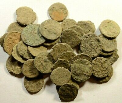 For Cleaning - Lot Of 40 Roman Bronze Coins - 17
