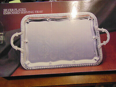 Paul Revere Silver Plated Embossed Serving Tray