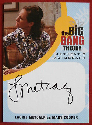 THE BIG BANG THEORY - LAURIE METCALF,  Mary Cooper - Seasons 6/7 Autograph Card