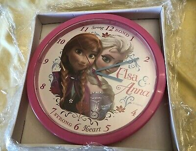 Disney Frozen Orologio Da Muro Elsa & Anna Bedroom Playroom Wall Hanging Clocks