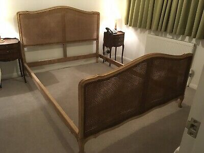 Antique french Rattan Bed Frame