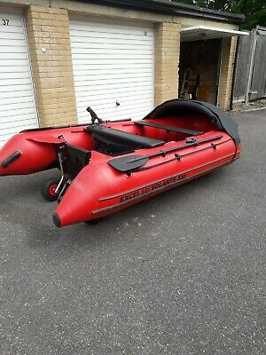 Inflatable Excel Volante 330 boat and 9.8hp outboard engine