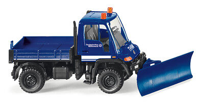 Wiking 1/87 H0 069322 Truck MB Unimog U400 THW - with Snow Plough - Nip