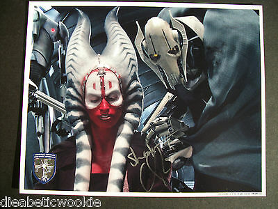 Star Wars Shaak Ti Jedi Autógrafo 8X10 Photo- Orli Shoshan Officialpix