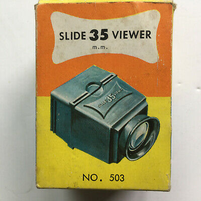 SLIDE VIEWER VINTAGE1960's  WHITE PLASTIC BOXED ITEM LITTLE IF ANY USE EX COND