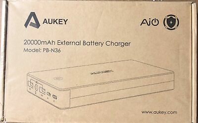 AUKEY Quick Charge 2.0 Powerbank 20000mAh mit Lightning & Micro-USB Eingang, 2 U