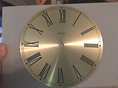 Vtg  WELBY Standard Brass Roman Numeral Metal Clock Face Industrial Steampunk