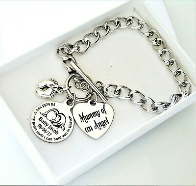 Mummy of an Angel , Miscarriage, loss of a baby, stillborn, memorial bracelet