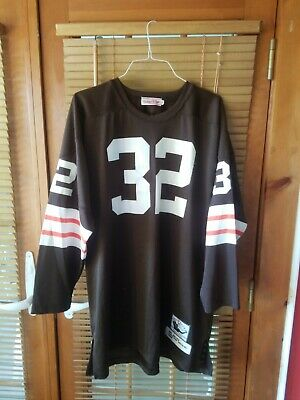 ab12f443 JIM BROWN CLEVELAND BROWNS VINTAGE 90s MITCHELL & NESS THROWBACK JERSEY  Size 54