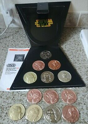 CA Lottery 2005 Star Wars Coin Set Limited Edition Vader Yoda Luke Leia R2D2 C-3