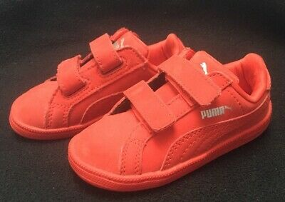 Puma Red Leather Toddler Sneaker Shoe Size 6c Rare Boys Girls Unisex