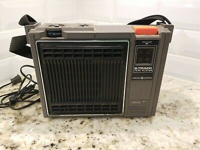 Vintage 8 Track Player Portable GE General Electric 3-5505A Tested see desc