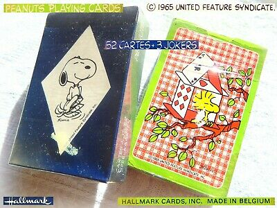 PEANUTS SNOOPY Vintage 1980 Playing Cards Decks Mazzi di Carte Gioco NEW 1SEALED