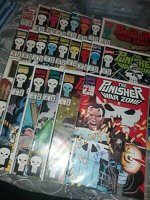 Punisher Warzone Comic Collection Joblot Issue 1 Signed By John Romita Jr